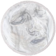 Faded Sculpture Round Beach Towel