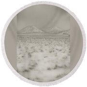 Faded Storm Round Beach Towel