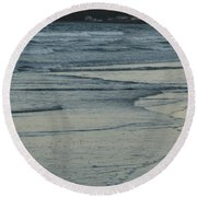 Fading Fast In Maine Round Beach Towel