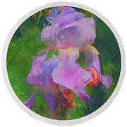 Fading Glory Round Beach Towel