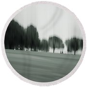 Fading Greens Round Beach Towel