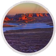 Fading Light Round Beach Towel by Chad Dutson