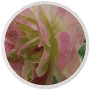 Fading Rose In Sepia Round Beach Towel
