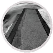 Fading Winter Two  Round Beach Towel