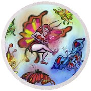 Faeries Round Beach Towel