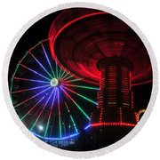 Fair Lights Round Beach Towel