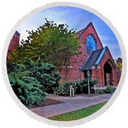 Fairhope Alabama Methodist Church Round Beach Towel