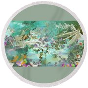 Fairie Garden Round Beach Towel