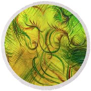 Fairies In The Garden Round Beach Towel