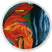 Fairies Of Fire And Ice Round Beach Towel