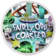 Fairly Odd Coaster Round Beach Towel