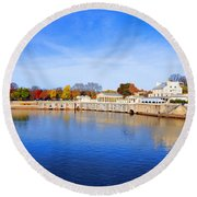 Fairmount Water Works - Philadelphia Round Beach Towel