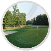 Fairway Hills - 4th - A Straight-in Par 4 Round Beach Towel