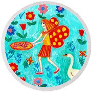 Fairy Cakes Round Beach Towel by Sushila Burgess