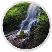 Fairy Falls Round Beach Towel