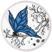 Fairy Fly Round Beach Towel
