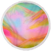 Fairy Land And Magic Mountains. To Roerich Round Beach Towel