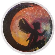 Fairy Life Faith Round Beach Towel