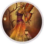 Fairy Lilith Round Beach Towel