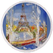 Fairy Tale In Reality Round Beach Towel