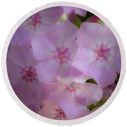Fairy Tale Phlox Round Beach Towel