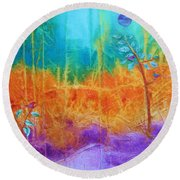 Fairy Tale Woods Round Beach Towel