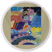 Fairy Tales Round Beach Towel