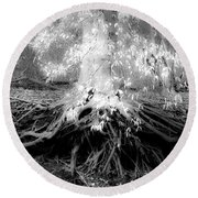Fairy Tree Round Beach Towel
