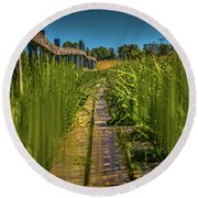 Fairy's View #h5 Round Beach Towel by Leif Sohlman