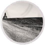 Faith In Motion  Round Beach Towel