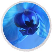 Faithfully Blue Round Beach Towel