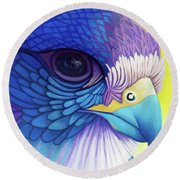 Falcon Medicine Round Beach Towel