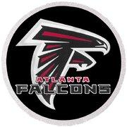 Falcons Atlanta T-shirt Round Beach Towel