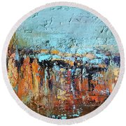 Fall Abstractions Round Beach Towel