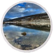 Fall Afternoon At Medicine Lake Round Beach Towel
