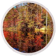 Fall At Table Rock Round Beach Towel