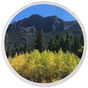 Fall At Twin Sisters Round Beach Towel