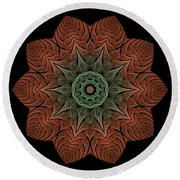 Fall Blossom Zxk-4310-2a Round Beach Towel