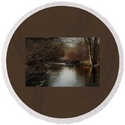 Fall Calm Round Beach Towel