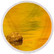 Fall Color Abstract Round Beach Towel