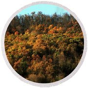 Fall Colors 16 Round Beach Towel