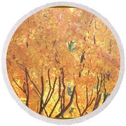 Fall Colors At Cape May Round Beach Towel