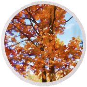 Fall Colors Looking Awesome Round Beach Towel