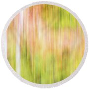Fall Colours Abstract, Oxtongue River, Algonquin Highlands Round Beach Towel
