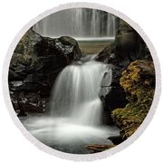 Fall Creek Falls 5 Round Beach Towel