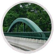 Fall Creek Gorge Bridge Cornell University Ithaca New York Round Beach Towel