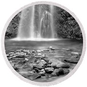 Fall Creek Round Beach Towel