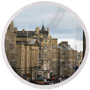 Fall Day In Edinburgh Round Beach Towel