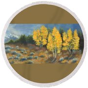 Fall Delight Round Beach Towel