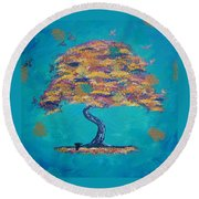 Fall Round Beach Towel